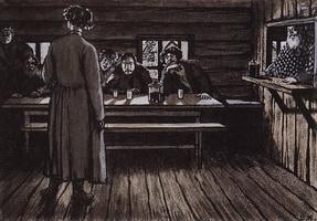 Иллюстрация к рассказу Певцы И.С. Тургенева (Б. Кустодиев, 1908 г.)