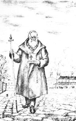 Б.М.Кустодиев. Влас. Иллюстрация к сборнику «Шесть стихотворений Некрасова». 1921
