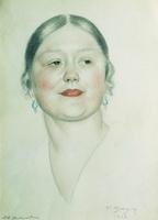 Портрет М.Д. Шостакович (Б.М. Кустодиев, 1923 г.)