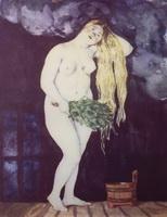 В бане (Б. Кустодиев, 1920 г.)