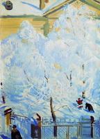 Иней (Б. Кустодиев, 1917 г.)