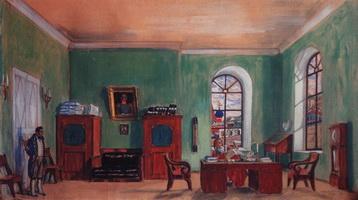 Кабинет Фурначева (Б. Кустодиев, 1917 г.)