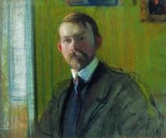 Автопортрет (Б. Кустодиев, начало 1900-х г.)