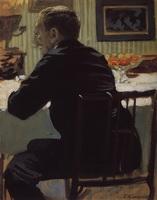 Портрет Л.С. Бакста (Б.М. Кустодиев, 1910 г.)