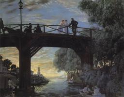 Мост. Астрахань (Б. Кустодиев, 1918 г.)