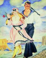 Матрос и милая (Б. Кустодиев, 1920 г.)