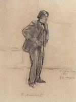 Портрет Ф.А. Малявина (Б.М. Кустодиев, 1900 г.)