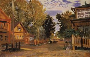 Старая Русса (Б.М. Кустодиев, 1921 г.)