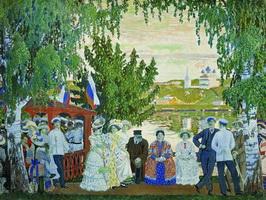 Гулянье (Б. Кустодиев, 1910 г.)