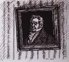Портрет барина Лапутина (Б.М. Кустодиев, 1922 г.)