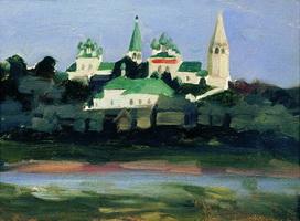 Сумерки в Судиславле (Б.М. Кустодиев)