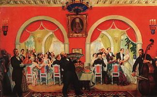 Свадебный пир (Б.М. Кустодиев, 1917 г.)
