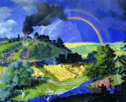 После грозы (Б.М. Кустодиев, 1921 г.)