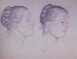 Два портрета Аннушки (Б. Кустодиев, 1918 г.)