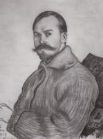 Автопортрет (Б. Кустодиев, 1917 г.)