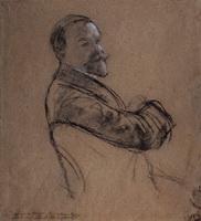 Автопортрет (Б. Кустодиев, 1910-1914 г.)