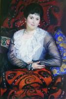 Портрет Любови Борисовны Боргман (Б.М. Кустодиев, 1915 г.)