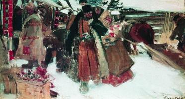 На базаре (Б. Кустодиев, 1902-1903 гг.)