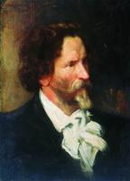 Портрет И.Е. Репина (Б.М. Кустодиев, 1902 г.)