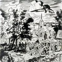 Деревенская ярмарка (Б. Кустодиев, 1926 г.)