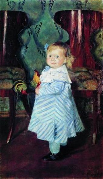 Портрет И. Б. Кустодиевой.