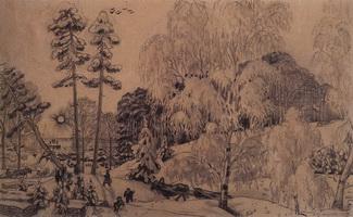 Зима (Б. Кустодиев, 1919 г.)