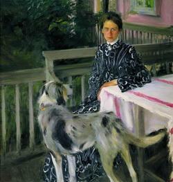 Портрет Ю.Е. Кустодиевой (Б. Кустодиев, 1903 г.)