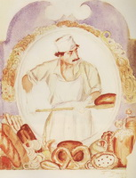 Пекарь (Б.М. Кустодиев, 1918 г.)