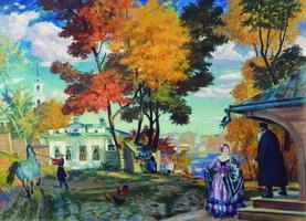 Осень (Б.М. Кустодиев, 1924 г.)