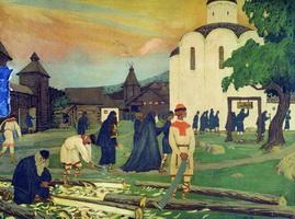 В монастыре (Б. Кустодиев, 1907 г.)