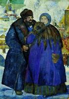 Купец с купчихой (Б. Кустодиев, 1914 г.)