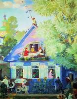 Голубой домик (Б. Кустодиев, 1920 г.)