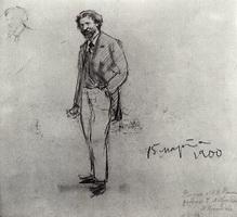 Портрет И.Е. Репина (Б.М. Кустодиев, 1900 г.)