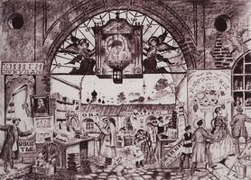 Гостиный двор (Б. Кустодиев, 1921 г.)
