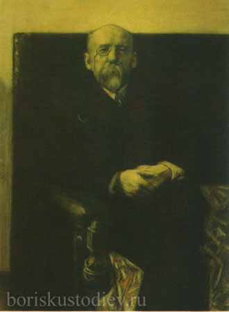 Портрет Ф.К. Сологуба (Кустодиев Б.М.)