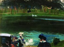 В Булонском лесу (Б. Кустодиев, 1909 г.)