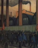 Манифестация (Б. Кустодиев, 1906 г.)
