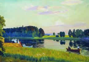 Конкола. Финляндия (Б. Кустодиев, 1917 г.)