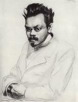 Портрет писателя А.М. Ремизова (Б.М. Кустодиев, 1907 г.)