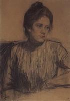 Портрет Ю.Е. Прошинской (Б.М. Кустодиев, 1901 г.)