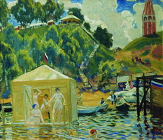 Купание (Б. Кустодиев, 1912 г.)
