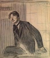 Портрет С.М. Городецкого (Б.М. Кустодиев, 1907 г.)
