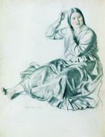 Девушка, расчесывающая волосы (Б. Кустодиев)
