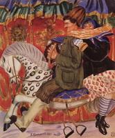 Карусель (Б. Кустодиев, 1920 г.)