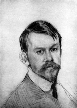 Борис Михайлович Кустодиев. Автопортрет. 1904