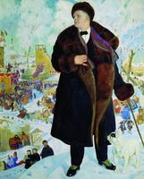 Портрет Ф.И. Шаляпина (Б.М. Кустодиев, 1922 г.)