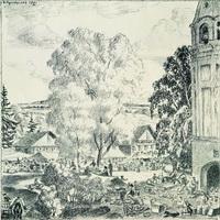 Деревенская ярмарка (Б. Кустодиев, 1921 г.)