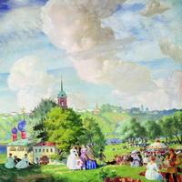 Летний праздник (Б. Кустодиев, 1923 г.)