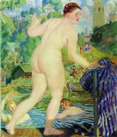 Купальщица (Б. Кустодиев, 1922 г.)