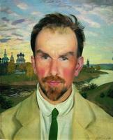 Портрет искусствоведа и реставратора А.И. Анисимова (Б.М. Кустодиев, 1915 г.)